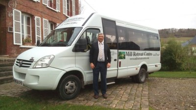 Mill Retreat Centre minibus with Pawel the caretaker and driver